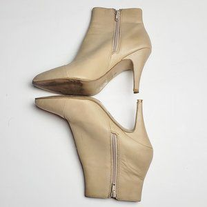 Jeffrey Campbell Ankle Boots Cream Pointy Toe 7.5